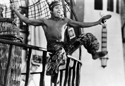 photo of Douglas Fairbanks in 'The Thief of Bagdad' (1924), dir. Raoul Walsh